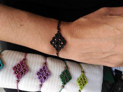 Chakra Colours Macrame Bracelet. Boho bracelet. Artisan jewelry.