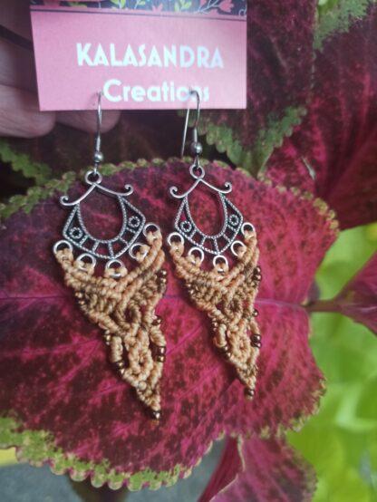 macrame earrings. kalasandra
