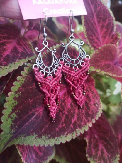 macrame earrings. handmade. kalasandra earrings. artisan. celtic jewelry. Boho earrings. Bohochick
