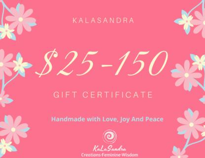 gift card kalasandra. handmade jewelry. artisan jewelry